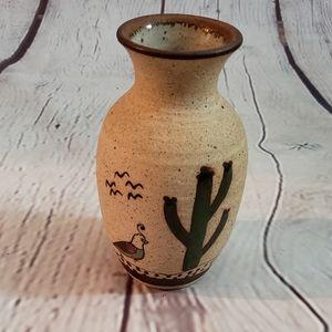 Mexico Folk Art Pottery Vase